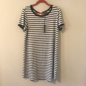 Market & Spruce Striped Shirt Dress